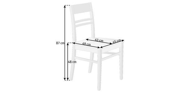 STUHL in Holz Weiß - Weiß, KONVENTIONELL, Holz (45/87/49cm) - Cantus