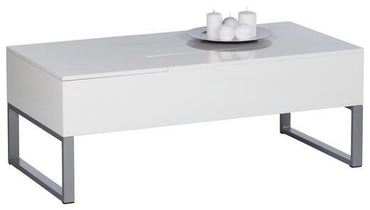 COUCHTISCH Weiß - Alufarben/Weiß, KONVENTIONELL, Metall (120/60/46-59cm) - Carryhome