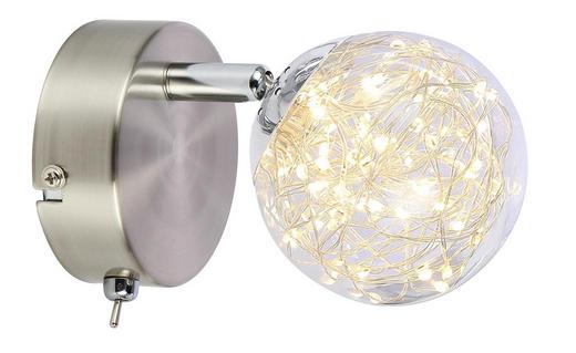 LED-STRAHLER - Klar, MODERN, Glas/Metall (9/17/12cm)