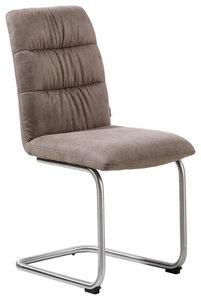 STOLICA NA SANKAMA - Siva/Boja nerđajućeg čelika, Dizajnerski, Tekstil/Metal (46/91/60cm) - Xora