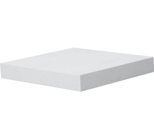 WANDBOARD Weiß  - Weiß, Design (23,5/3,8/23,5cm) - Carryhome