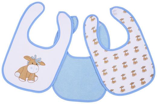LÄTZCHEN 3-teilig - Blau/Weiß, Basics, Textil (21/32cm) - My Baby Lou