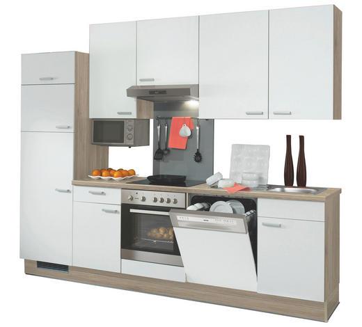 KÜCHENBLOCK - Eichefarben/Weiß, Design, Holzwerkstoff (280cm) - Xora