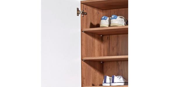Schuhschrank Avensis - Eichefarben/Weiß, MODERN, Holzwerkstoff (52/205,7/37,1cm) - Luca Bessoni
