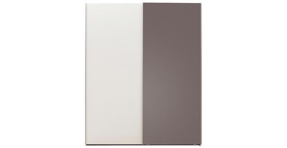 EINZELZIMMER Braun, Weiß - Braun/Weiß, Design, Glas (140/200cm) - Dieter Knoll