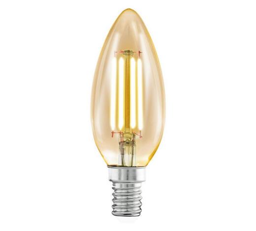 LED-LEUCHTMITTEL  E14 4 W  - Klar, Basics, Metall (9,8cm)