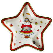 PLADENJ STAR PLATE CHRISTMAS - večbarvno, Basics, keramika (17,8/17,8cm) - X-Mas
