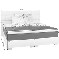 POSTEL BOXSPRING, 180 cm  x 200 cm, textil, béžová - béžová/barvy nerez oceli, Design, textil (180/200cm) - Welnova