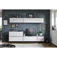 OBÝVACÍ STĚNA, antracitová, bílá - bílá/antracitová, Moderní, kov/kompozitní dřevo (272/190/50cm) - Carryhome