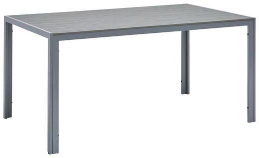 Gartentisch Kunststoff Metall Grau Silberfarben Online Kaufen