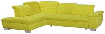 SEDEŽNA GARNITURA,  rumena tekstil - rumena/krom, Design, tekstil (242/313cm) - Xora