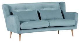 ZWEISITZER-SOFA in Textil Hellblau  - Naturfarben/Hellblau, Design, Textil (175/86/90cm) - Carryhome
