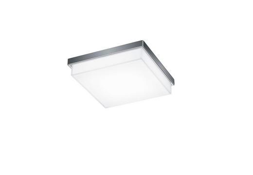 LED-DECKENLEUCHTE - Chromfarben, MODERN, Metall (21/21/6cm) - Helestra