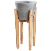 PFLANZTOPF - Naturfarben, Natur, Holz/Kunststoff (33/70cm) - Ambia Home