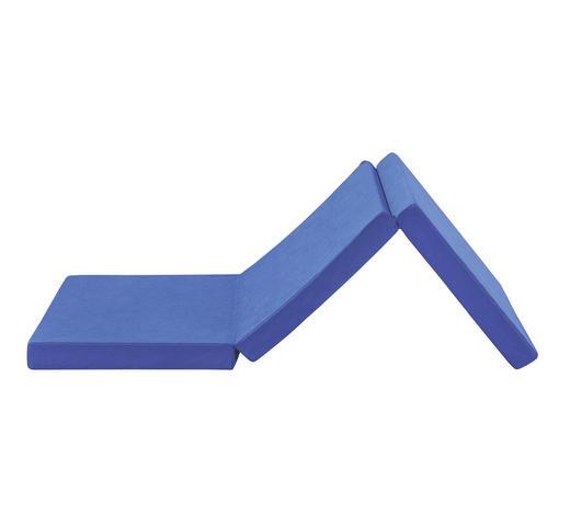 SKLÁDACÍ MATRACE,  - modrá, Basics, textil (65/8/186cm)