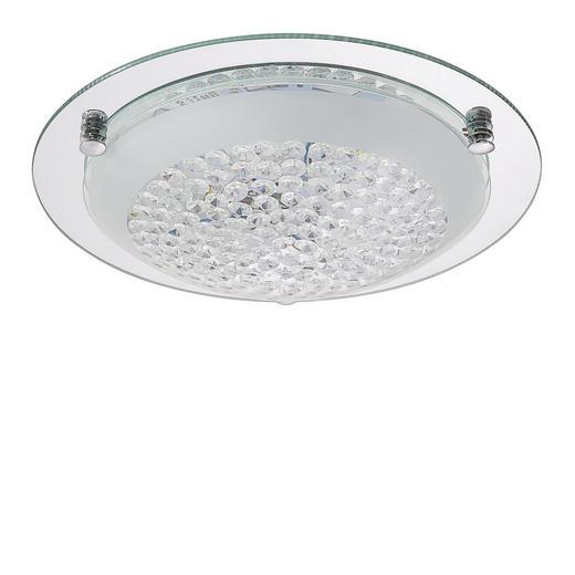 LED-DECKENLEUCHTE - Chromfarben, LIFESTYLE, Glas/Metall (32/9cm) - Novel