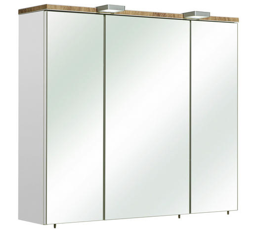 SPIEGELSCHRANK 80/70/20 cm - Weiß, KONVENTIONELL, Glas/Holzwerkstoff (80/70/20cm) - Xora