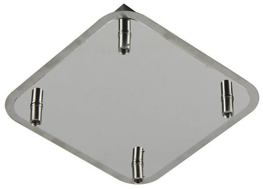 SVÍTIDLO BODOVÉ - barvy chromu, Basics, kov (24/24/5cm) - Boxxx