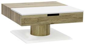 COUCHTISCH in 78/40/78 cm Sonoma Eiche, Weiß - Weiß/Sonoma Eiche, Design, Holzwerkstoff (78/40/78cm) - Xora