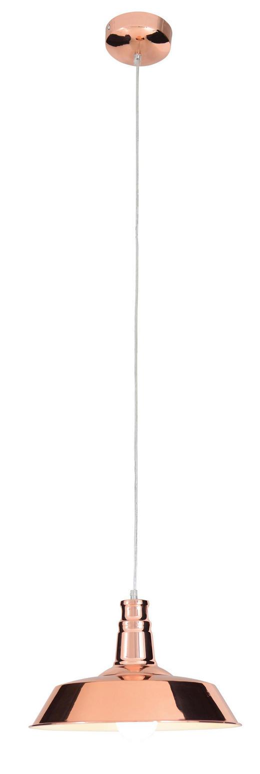 HÄNGELEUCHTE - Kupferfarben, LIFESTYLE, Metall (36/34cm)
