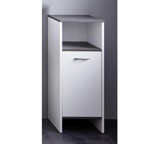 SEITENSCHRANK 32/82/28 cm - Silberfarben/Weiß, Design, Holzwerkstoff/Kunststoff (32/82/28cm) - Xora