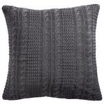 ZIERKISSEN 45/45 cm  - Dunkelgrau, Design, Textil (45/45cm) - Novel