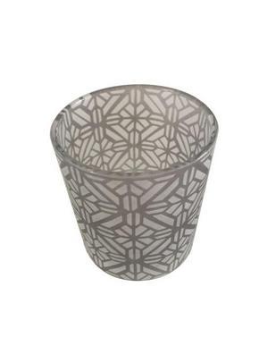 VÄRMELJUSHÅLLARE - grå, Basics, glas (7,5/7,8cm) - Ambia Home