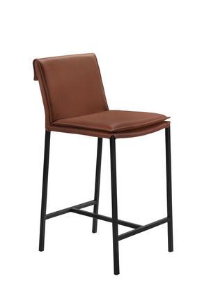 BARPALL - beige/brun, Design, metall/läder (43,5/94,5/51,5cm) - Lomoco