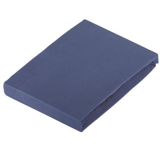 SPANNBETTTUCH Jersey Dunkelblau bügelfrei  - Dunkelblau, Basics, Textil (180/200cm) - Novel