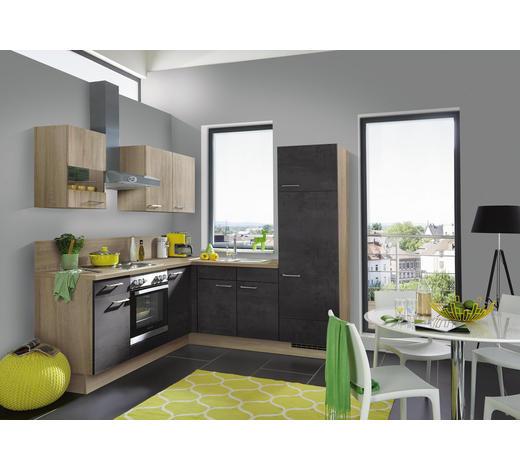 ECKKÜCHE - Eichefarben/Braun, Design, Holzwerkstoff (210/215cm) - Celina