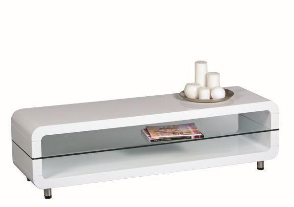 TV ELEMENT - bijela/boje srebra, Design, staklo/drvni materijal (138/39/40cm) - BOXXX