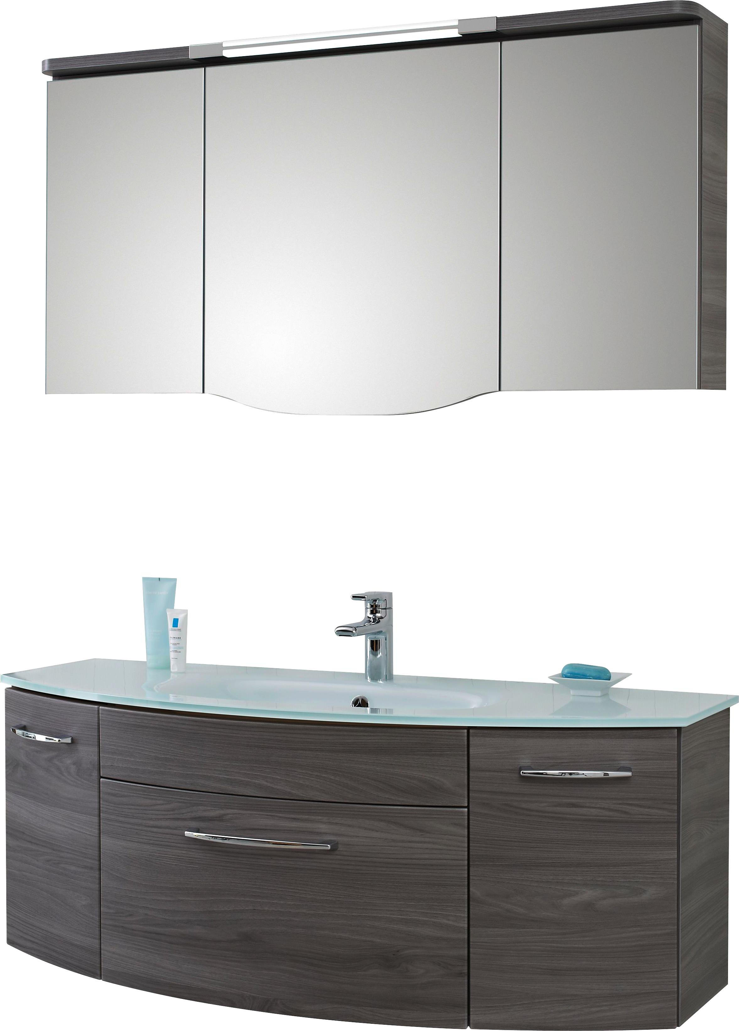 BADEZIMMER Grau   Grau, Design, Glas (131,6cm)   Sadena
