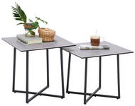 COUCHTISCHSET - Hellgrau/Schwarz, Design, Glas/Keramik (45/45/45/45/45/40cm) - Hom`in