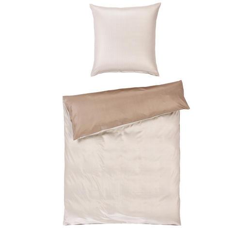 BETTWÄSCHE Makosatin Grau, Beige 155/220 cm  - Beige/Grau, Basics, Textil (155/220cm) - Joop!