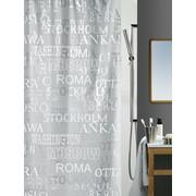 Duschvorhang 180/200 cm - Silberfarben, KONVENTIONELL, Kunststoff (180/200cm) - Spirella
