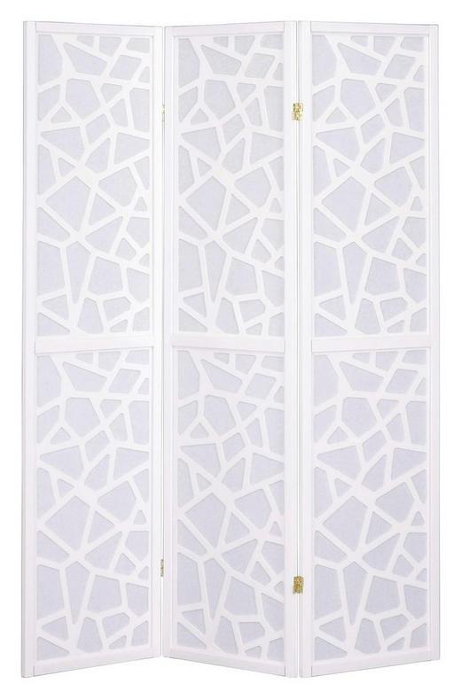 PARAVENT Holz, Papier Weiß - Weiß, Design, Holz/Papier (43,50/178,50/0cm) - Xora
