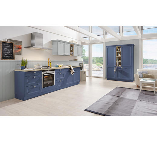 EINBAUKÜCHE - Blau/Eichefarben, Design - Nolte Küchen