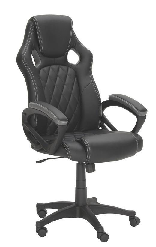 GAMINGSTUHL - Schwarz/Weiß, Design, Kunststoff/Textil (63/113-122/70cm) - Xora