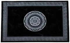 Webteppich Daryl 80x150 cm - Schwarz/Weiß, KONVENTIONELL, Textil (80/150cm) - Ombra