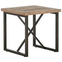 BEISTELLTISCH in Holz, Metall 55/55/55 cm - Schwarz/Kieferfarben, Trend, Holz/Metall (55/55/55cm) - Landscape