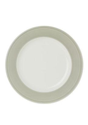MATTALLRIK - vit/ljusgrå, Design, keramik (28,1cm) - Novel