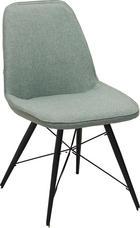 STOL, kovina, tekstil črna, zelena - črna/zelena, Design, kovina/tekstil (60/86/58cm) - Carryhome