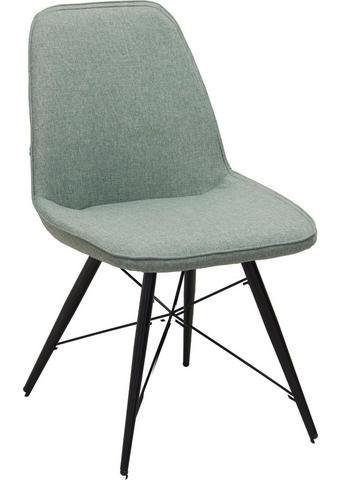 STOL, kovina, tekstil zelena, črna  - črna/zelena, Design, kovina/tekstil (60/86/58cm) - Carryhome
