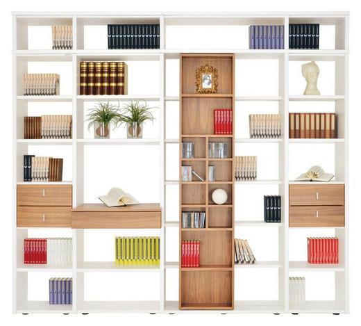 WOHNWAND in Weiß, Nussbaumfarben - Nussbaumfarben/Schwarz, KONVENTIONELL, Holzwerkstoff/Kunststoff (280/248/40cm)