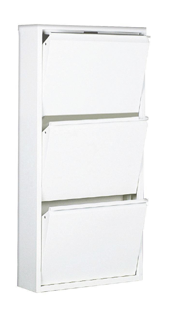 SCHUHKIPPER Weiß - Weiß, MODERN, Metall (50/103/15cm) - CARRYHOME
