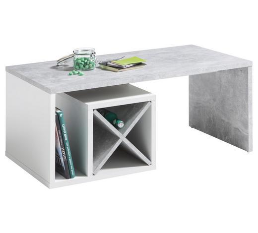 COUCHTISCH rechteckig Grau, Weiß  - Weiß/Grau, MODERN (108/58/42cm) - Hom`in