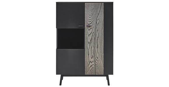 HIGHBOARD 97,5/144/41,2 cm  - Anthrazit/Grau, Design, Glas/Holz (97,5/144/41,2cm) - Dieter Knoll