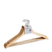 Kleiderbügelset, 5-teilig Holz, Metall, Kunststoff Naturfarben  - Naturfarben, Basics, Holz/Kunststoff (44,5cm) - Homeware