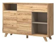 SIDEBOARD melaminharzbeschichtet Eichefarben - Eichefarben, Design, Holz/Holzwerkstoff (142/100/41cm) - Linea Natura