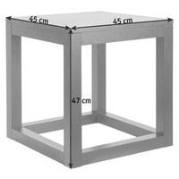 ODKLÁDACÍ STOLEK - barvy dubu, Design, dřevo (45/45/47cm) - Ambia Home